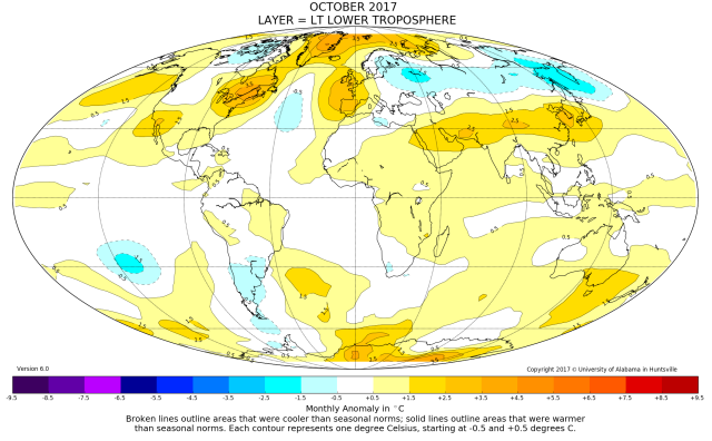 While global surface temperature cools, the lower