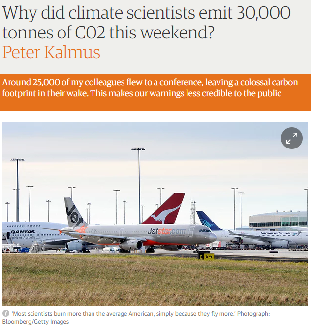 Why did climate scientists emit 30,000 tonnes of CO2 this weekend