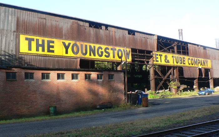 Abandoned facility of defunct Youngstown Sheet and Tube Company.