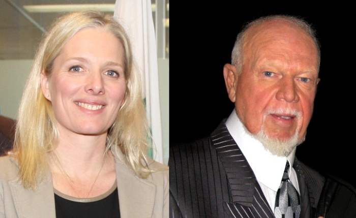 Catherine McKenna and Don Cherry