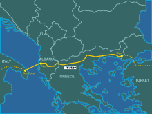 Trans Adriatic Gas Pipeline Map