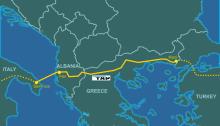 Trans Adriatic Gas Pipeline Map