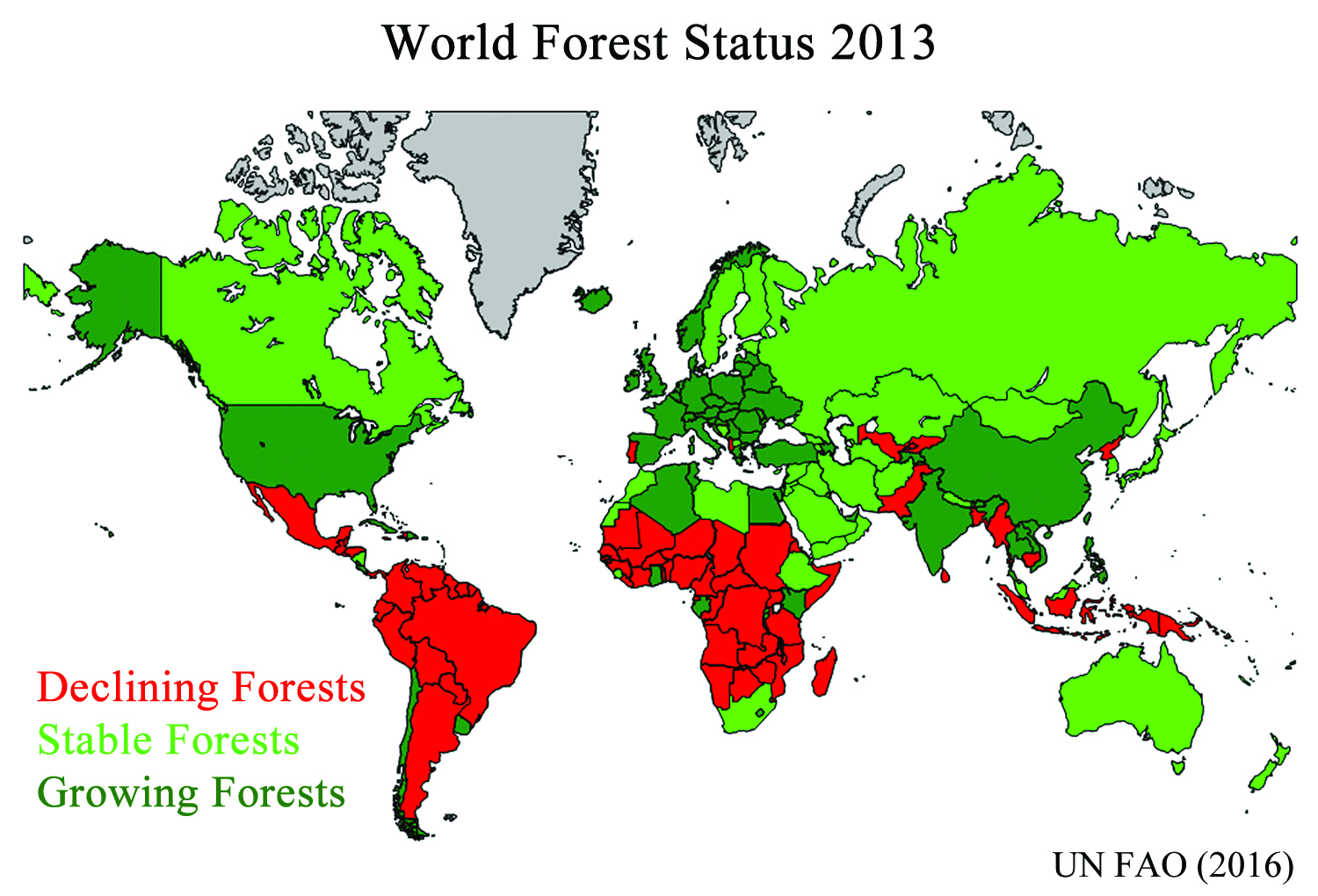 The Coming Global Forest Regrowth Watts Up With That - Us-forest-cover-map