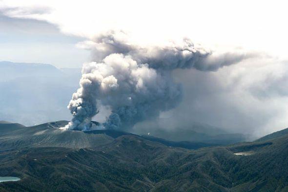 Japan-volcano-aerial