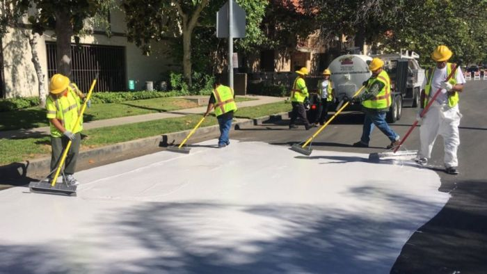 LA Painting Streets White to Prevent Global Warming | Watts