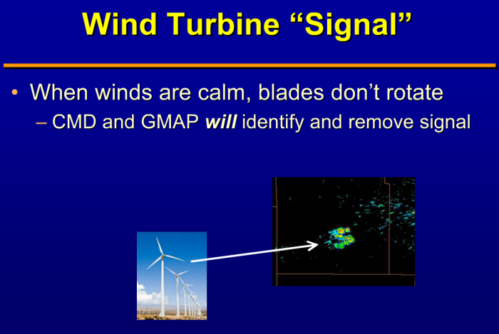 NOAA/NWS document: wind turbines affect weather radar