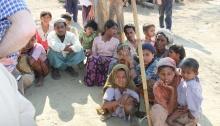 Displaced Rohingya people in Rakhine State