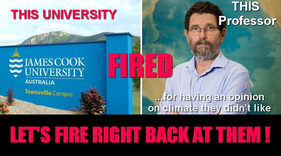 06bb880d2 Climate skeptic professor Peter Ridd fired for his views by James Cook  University @jcu | Watts Up With That?