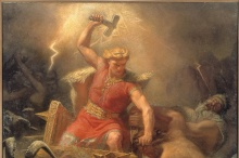 Thor's Fight with the Giants (1872) by Mårten Eskil Winge.